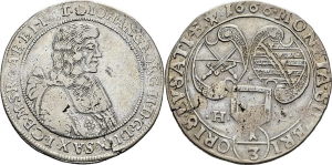 ⅓-Taler für die Oberlausitz, Kurfürst Johann Georg II